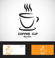 Stylized coffe cup logo vector image vector image