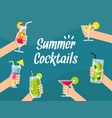 summer background with various vector image vector image