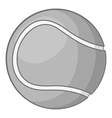 Tennis ball icon gray monochrome style vector image vector image
