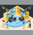 tv studio isometric vector image vector image