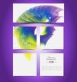 Virtual presentation gallery vector image vector image