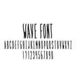 wave font alphabet vector image