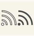 wi-fi signal line and glyph icon internet vector image