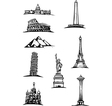 World Monument Spots vector image