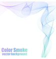 Blue and violet smoke vector image