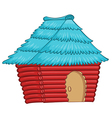 A colourful native house vector image vector image