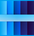 Abstract blue rectangle shapes background vector image vector image
