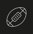 american football ball icon on black background vector image vector image