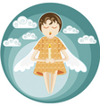 angel with candle vector image