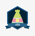 asia emblem design vector image vector image