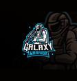 astronaut mascot sport logo design vector image vector image