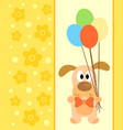 background card with funny dog vector image