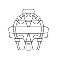 baseball face protector icon vector image vector image
