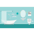 bathroom with furniture interior on background vector image vector image