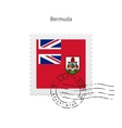 Bermuda Flag Postage Stamp vector image vector image