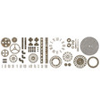 big set steampunk gear collection with rust vector image