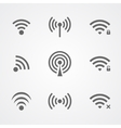 Black wi-fi icons isolated on white background vector image vector image