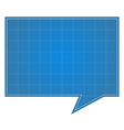 Blueprint speech bubble vector | Price: 1 Credit (USD $1)