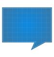 Blueprint Speech Bubble vector image vector image