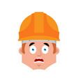 builder scared emotion avatar worker vector image vector image