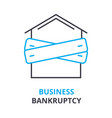 business bankruptcy concept outline icon linear vector image