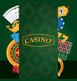 casino game emblem vector image