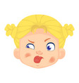 caucasian girl character vector image vector image
