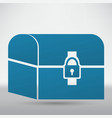 chest icon vector image