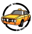 Color vintage taxi emblem vector image vector image