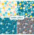 Confetti patterns vector image vector image