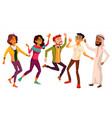 dancing people set funny and friendly vector image