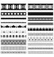 Decorative Pattern Brushes vector image