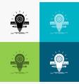 development idea bulb pencil scale icon over vector image vector image