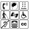 disability symbols and signs collection vector image