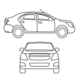 drawing car side view vector image