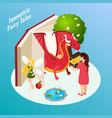 fairy tales isometric composition vector image vector image