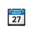 February 27 Calendar icon vector image vector image