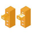 filing cabinet drawer vector image