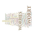 five steps to freedom from worries text vector image vector image
