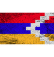 Flag of Karabakh Republic with old texture vector image