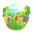 footballers playing outdoors Football field vector image
