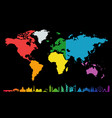 geographical map of the world with different vector image