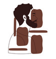hand drawn portrait black man vector image