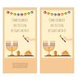 Happy Hanukkah greeting card party invitation vector image vector image