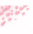 heart background with light pink paper cut hearts vector image
