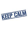 keep calm stamp vector image vector image