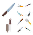 knife and cut sign set of vector image