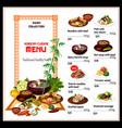 korean cuisine menu national food vector image