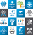 large collection of logos School vector image vector image
