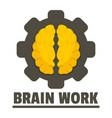 logic brain work logo flat style vector image